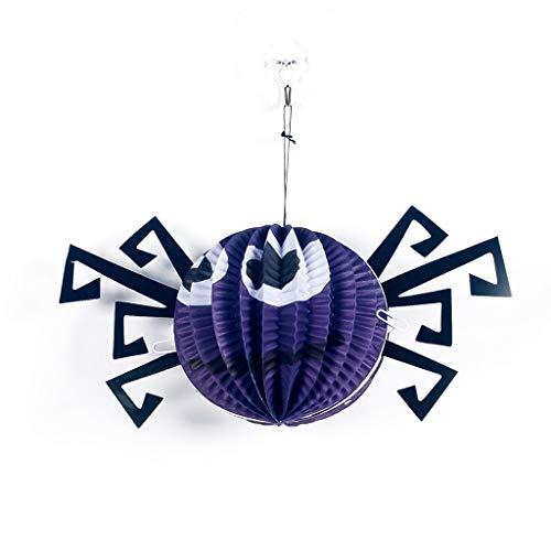 YWLINK Halloween HäNgende Deko Pompom Lampion Drinnen DraußEn Party Decor Spielzeug KüRbis Spinne Eule Halloween Dekorationen Kinder Geschenk (Lila,Wie Gezeigt)