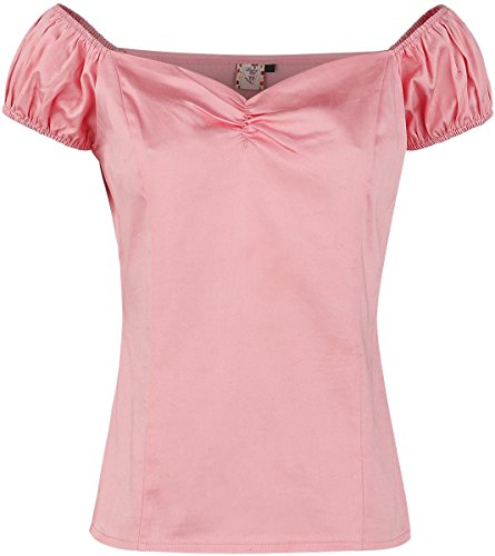 Banned Winnie Top T-shirt Femme rose clair rose clair