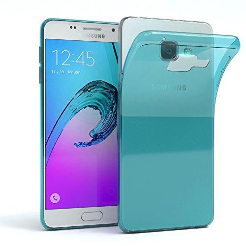 Samsung Galaxy A3 (2016) Hülle - EAZY CASE Ultra Slim Cover Handyhülle - dünne Schutzhülle aus Silikon in Transparent Clear Hellblau