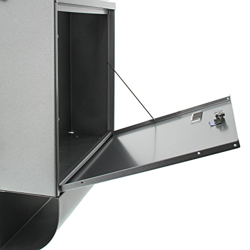 BURG-WÄCHTER Set Vario 86720 Si Briefkasten-Set mit Zeitungsbox A4 Einwurf-Format, Verzinkter Stahl, Set Vario Si, Silber - 4