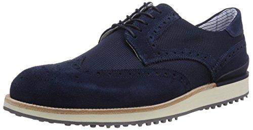 Samsonite Shoes CARACAS LOW 1601 SUEDE/FABRIC BLUE/BLUE, Brogue stringata uomo, Blu (Blau (BLUE/BLUE)), 45