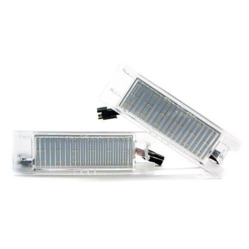 2 x LED Kennzeichenbeleuchtung 6000K Kennzeichen Leuchte Xenon Beleuchtung