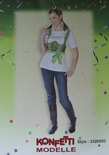 Kostüm Dirndl T-Shirt Dirndlshirt Dirndlkostüm grün Gr. 38, 42, 46, Größe:38