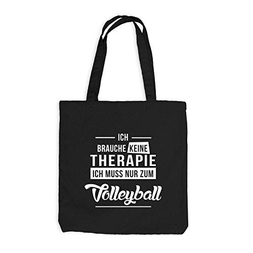 Jutebeutel - Ich Brauche Keine Therapie Volleyball - Sport Schwarz