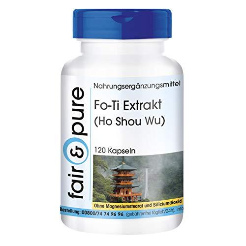 Fo-Ti Extrakt (Ho Shou Wu) mit Bioperin - vegan - 120 Fo-Ti-Kapseln -