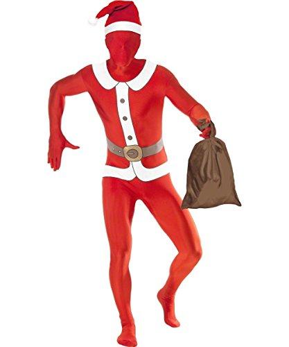 Smiffys Santa zweite Haut-Weihnachten-Erwachsene Kostüm-Mittel-38-40