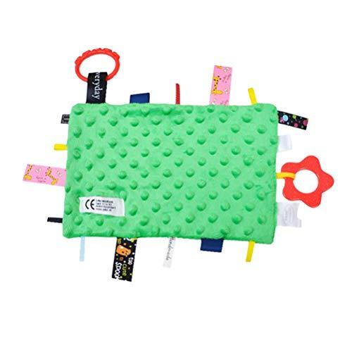 YeahiBaby Tag Coperta di Sicurezza Coperta Bambino Comfort Coperta Doudou Coperta Trapunta Neonato (Verde)
