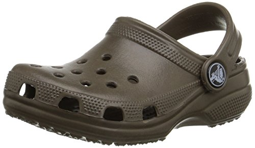 Crocs Classic Kids, Unisex - Kinder Clogs, Braun (Chocolate), 22-24 EU (Cayman Chocolate)