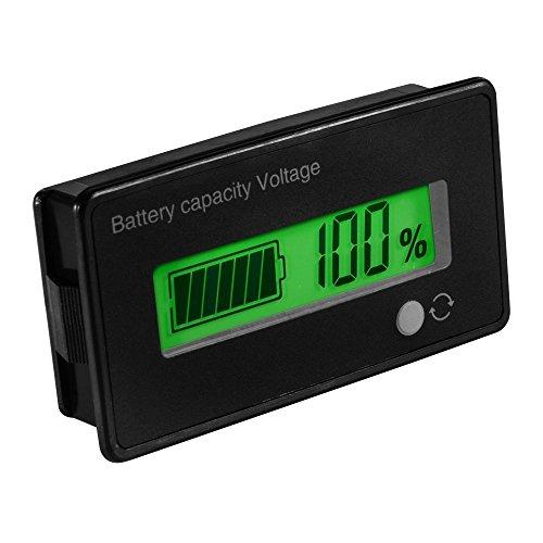 Misuratore della capacità di voltaggio della batteria digitale Tester,12V / 24V / 36V / 48V LCD Tester di capacità della batteria al piombo,pannello di batteria al litio 3,7 V Indicatore per auto