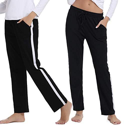 Hawiton Pantalones Deportivos para Mujer 100% Algodón Pantalón de Ch