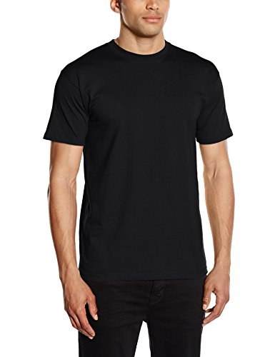 Fruit of the Loom Herren Regular Fit T-Shirt Gr. M, Schwarz (Herren Loom T-shirt Crew)