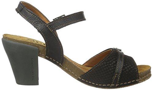 Art artI FEEL - Sandali con Cinturino alla Caviglia Donna, Nero (Nero (nero)), 37
