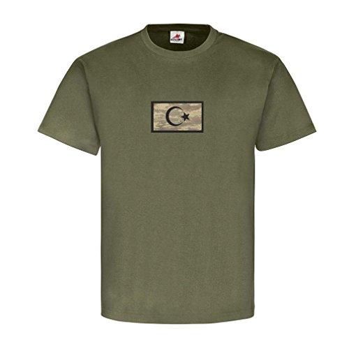 Türkei Military Flaggen Türkey Soldaten Wappen Stolz Heimat Türke Halbmond Stern T Shirt #22907, Größe:S, Farbe:Oliv -