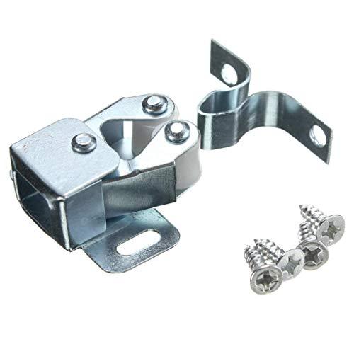 Yongse Silber Roller Fang Schrank Schrank Tür Verriegelung Twin Doppel Fängt mit Schrauben (Fang Tür Schrank Schrank Roller)