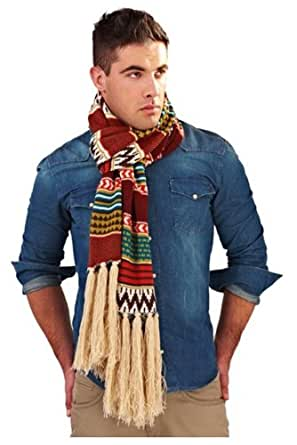 New Design for Autumn, Mens Acrylic Knit Multi Design Warm Winter Fashion Scarf with Fringe