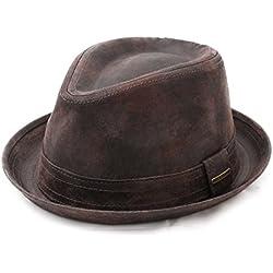 Stetson - Sombrero trilby cuero hombre Radcliff - talla XL