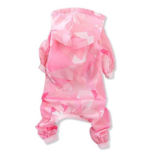 Balock Schuhe Haustier Sonnenschutz Mantel Jacke - Sommer Hund Katze Vierbeinige Kleidung Sonnenschutz Kleidung - Leicht & Atmungsaktiv - für Schnauzer,Teddy,Pudel,Chihuahua (Pink, XL) (Kostüm Für Mini Schnauzer)