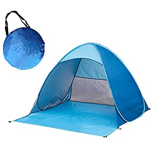 esther beauty outdoor portable instant automatic pop up beach tent sun shelter 2-3 person