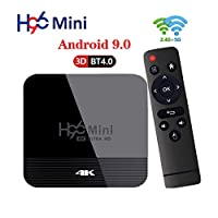 Sausiry H96 Mini Android 9.0 TV Box 2G 16G Dual Band WIFI 2.4G&5G 4K Bluetooth 4.0 Set Top Box USB 3.0 Support 3D Movie أفضل من H96 Max