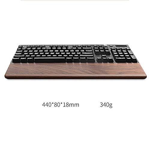 SSSLG Handgelenkauflage aus Holz, WALNUSS, 4 Größen, passend für 60% 80% 100% Tastatur, anpassbares Logo und Buchstaben,4