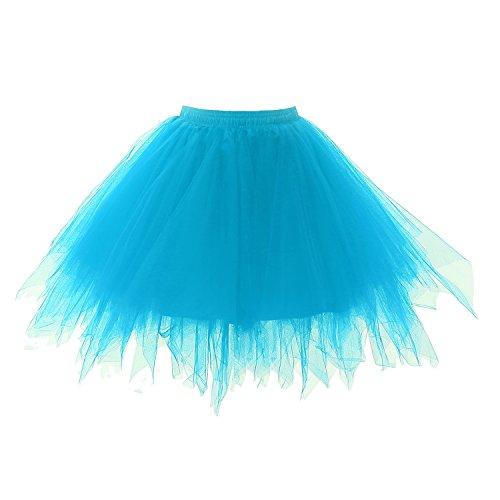 Annxrose Damen 1950er Vintage Ballett Blase Tutu Rock Tüll Petticoat Ballkleid Puffy Unterröcke...
