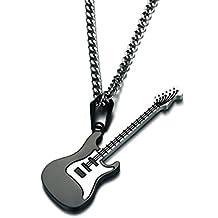 luoem collar con colgante a forma de guitarra para regalo de hombre