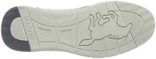 Mustang 4115-305-1, Sneakers Basses Homme Blanc (1 Weiß)