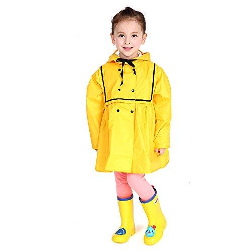 Polyester-Gewebe atmungsaktiv schnell trocknend Raincoat Baby-Studenten Princess Kinder Raincoats Mädchen Nettes kleines Mädchen, Eltern - Kind Poncho