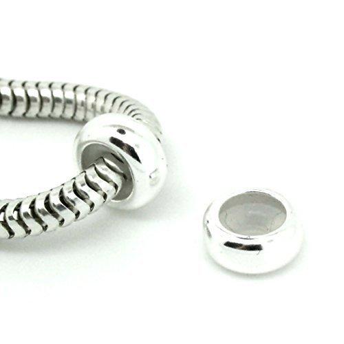 EIN SCHLICHT STOPPER - 925 Sterlingsilber Anhänger Perle für armband - Europäischen Stil