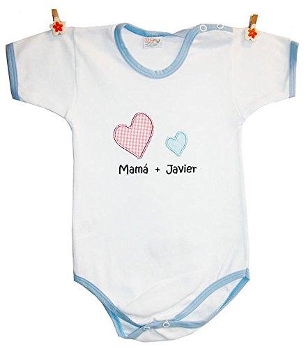 """Zigozago - Body personalizado para Bebés """"MAMA' + Nombre del niño"""""""