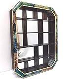 art der zeit Vitrine Parfum Collection Holz schwarz Gold Glas Tür 41 cm Hänge Sammlervitrine