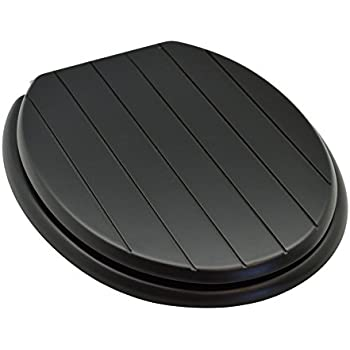 Bemis CL New York Silentium Soft Close Wooden Toilet Seat - Black wooden toilet seat