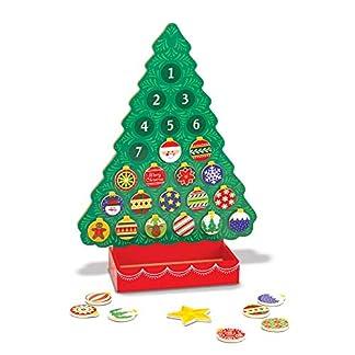 Melissa & Doug 13571 – Cuenta Regresiva para la Navidad Calendario de adviento de Madera