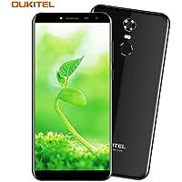 Oukitel C8 4G Handy ohne Vertrag 5.5 Zoll Smartphone (18:9 Verhältnis Vollbild) Android 7 3000mAh Akku Quad Core Smartphone 16GB 13MP+5MP Kamera Dual SIM Smartphone mit Fingerabdruck-Schwarz