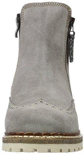 Tamaris 26490, Bottes Chelsea Femme Gris (Grey/Plat Glam 286)