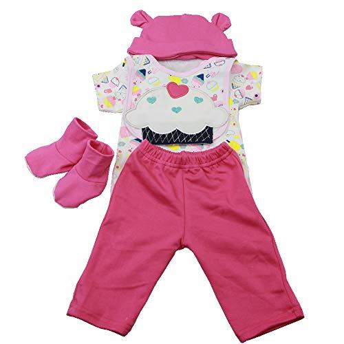 LLX Mode Nouveau-né Vêtements Bébé Reborn Bébé Fille Vêtements De Poupée pour 20-22 Pouces 50-55 Cm Poupée Cadeaux