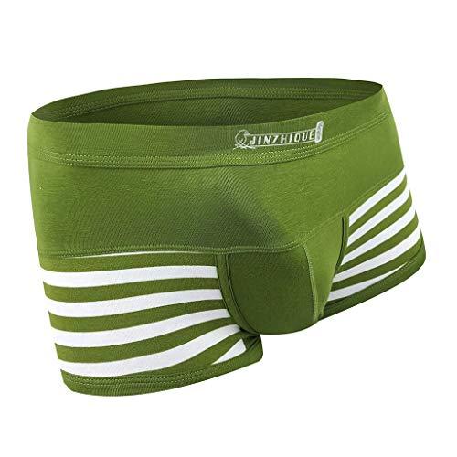 M-3XL Männer Boxershorts Herren Streifen Underpants Unterhose Unterwäsche Briefs Underwear Panties Unterhosen Retroshorts CICIYONER
