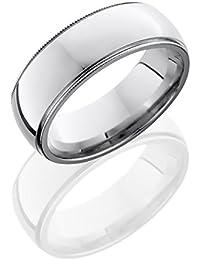SlipRock Cobalt Chrome, Edged Domed Polished Wedding Band (sz H to Z1)