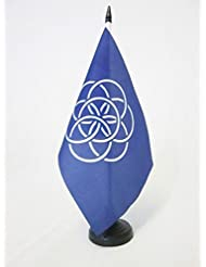 BANDERA de MESA de la HUMANIDAD 21x14cm - BANDERINA de DESPACHO DEL PLANETA TIERRA 14 x 21 cm - AZ FLAG