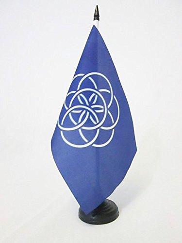 AZ FLAG TISCHFLAGGE Planet Erde 21x14cm - Blauer Planet TISCHFAHNE 14 x 21 cm - flaggen