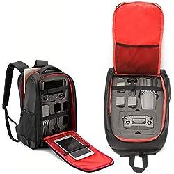 Kismaple Voyage étanche Sac de Transport Sac à Dos pour DJI Mavic 2 Pro/Mavic 2 Zoom Drone Télécommande, Smart Controller, Batterie, Chargeur Accessoires étui de Rangement
