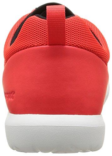 Le Coq Sportif Dynacomf Classic Herren Sneaker Rot - Rouge (Fluoro Red/Black)