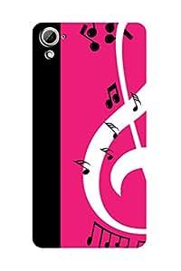 ZAPCASE PRINTED BACK COVER FOR HTC 826 - Multicolor