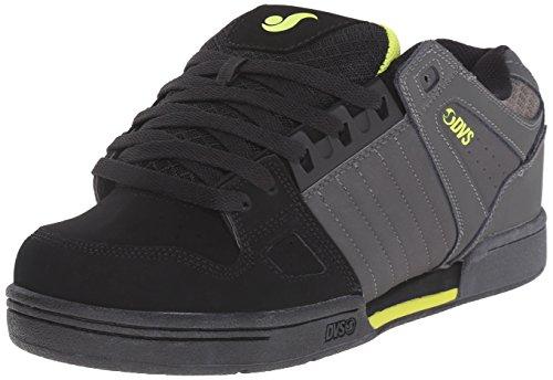 DVS (Elan Polo) Celsius - Scarpe da Skateboard Uomo, Grigio (Grey/Blk/Lime Nubuck), 45
