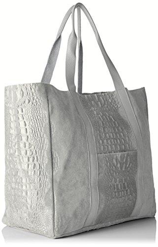 Chicca Borse 80043, Borsa a Mano Donna, 62 x 36 x 21 cm (W x H x L) Grigio