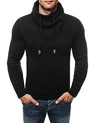 OZONEE Homme Pull tricoté Veste Tricotée Pull à capuche pull pull à col roulé