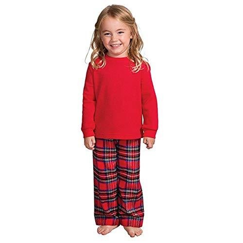 (Familie Weihnachtspyjamas Passende Ausstattung für die Familie Vater Mutter Tochter Mädchen Junge Kleidung Sets Schlafanzug)