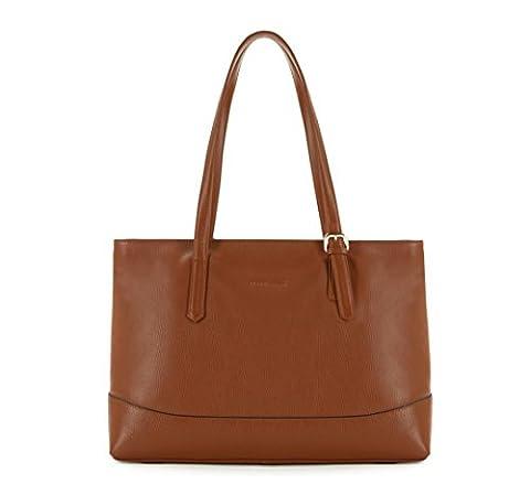 WITTCHEN Damen Shopper Damentasche, 12,5x55x38 cm, Braun, Leder, Echtleder, Handmade, 83-4E-494-5