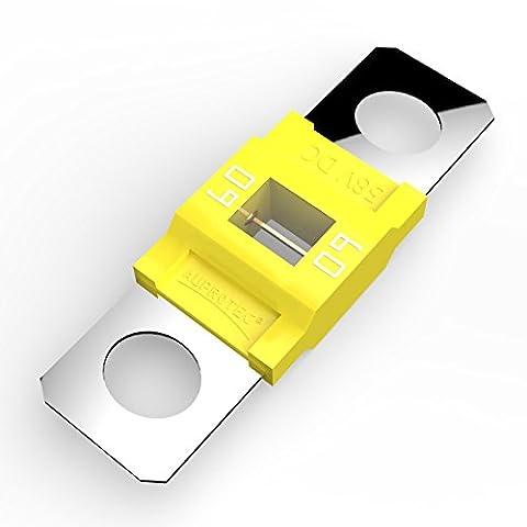 Auprotec® MIDI fusibles pour courant de forte intensité à visser 40A - 100A choix: 60A Ampere jaune, 5 pièces