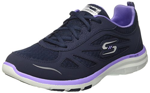 Skechers Damen Galaxies-Enigma Laufschuhe, Blau (Navy/Purple), 36 EU